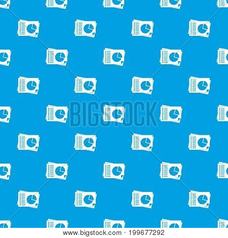 Sheets of paper with charts pattern repeat seamless in blue color for any design. Vector geometric illustration
