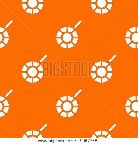 Color picker pattern repeat seamless in orange color for any design. Vector geometric illustration