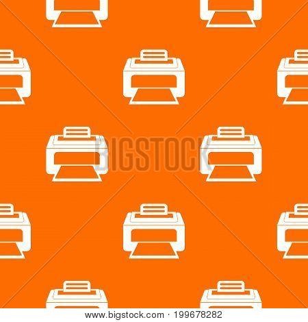 Modern laser printer pattern repeat seamless in orange color for any design. Vector geometric illustration