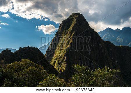 The famous Machu Picchu in Peru