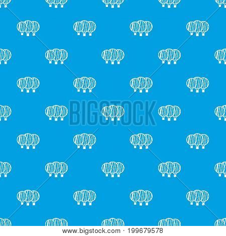 Camera lenses pattern repeat seamless in blue color for any design. Vector geometric illustration