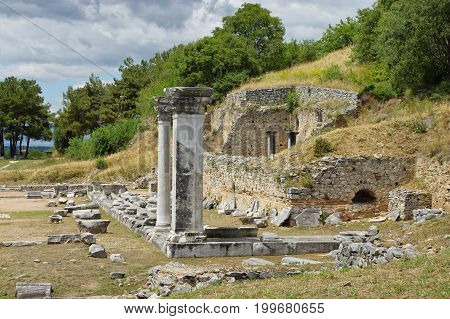 Ruins of the ancient city Filippi near Kavala, Greece.