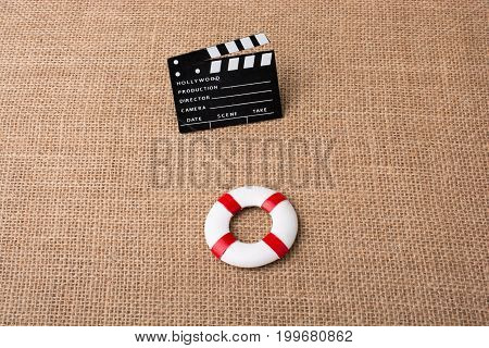 Life Preserver And A Cinema Clapper Canvas