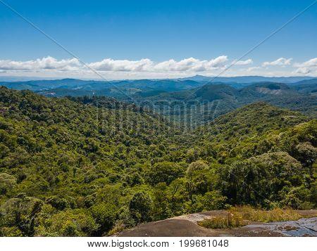 Forest Landscape At Monte Verde, Minas Gerais, Brazil.