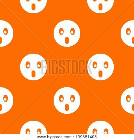 Frightened emotpattern repeat seamless in orange color for any design. Vector geometric illustration