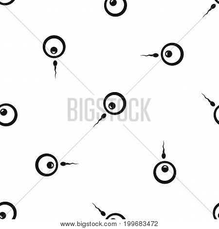 Donor sperm pattern repeat seamless in black color for any design. Vector geometric illustration