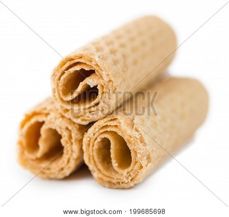 Sweet Wafers Isolated On White Background