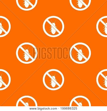 No termite sign pattern repeat seamless in orange color for any design. Vector geometric illustration