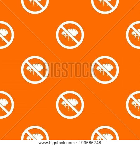 No flea sign pattern repeat seamless in orange color for any design. Vector geometric illustration