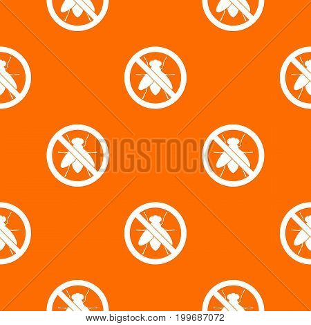 No fly sign pattern repeat seamless in orange color for any design. Vector geometric illustration
