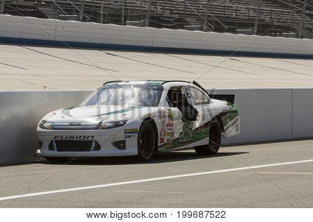 Empty Nascar Race Car On Pit Row
