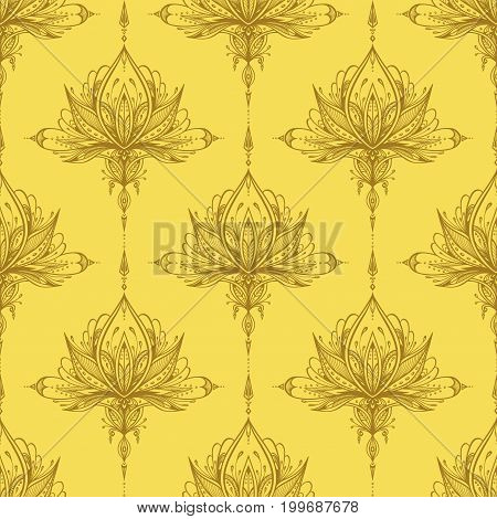 Abstract seamless pattern by decorative element style in beige for textile or perfume or for decorate gift paper  or  wallpaper or for package