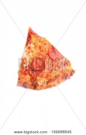 Pepperoni Pizza. Pepperoni Pizza. Fresh Baked Pepperoni Pizza slice isolated on white.  Room for text.