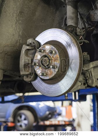 Brake disk of a car