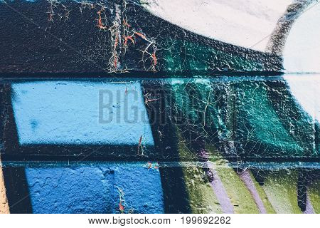 Close Up Of Graffiti Texture