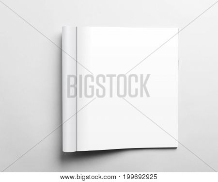 Blank open magazine isolated on white background with clipping path ready for your artwork