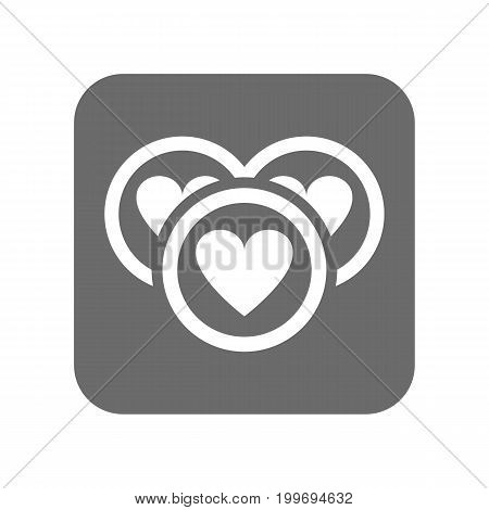 Customer service icon with heart sign. Support management, service centre pictogram isolated vector illustration.