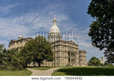 The Michigan State Capitol is the building that houses the legislative branch of the government of the U.S. state of Michigan.