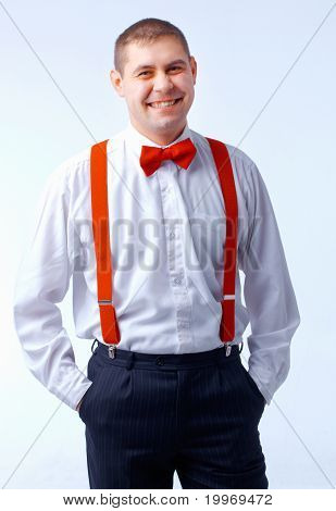 Man With Red Bow Tie