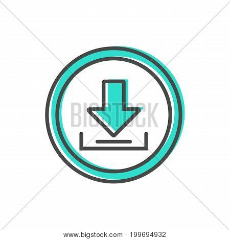 Data sorting icon with loading process sign. Data analysis, business analytics pictogram isolated vector illustration.