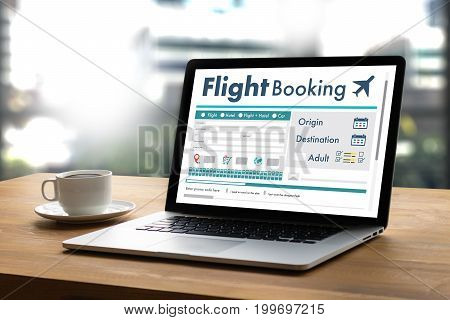 Go Flight Booking Air Online Ticket Book Concept