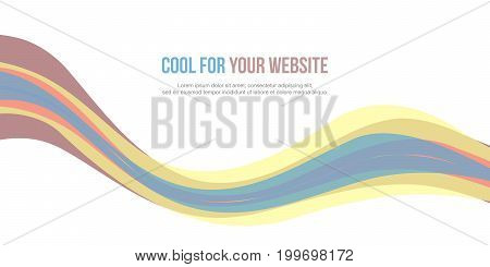 Abstract background colorful website header vector illustration