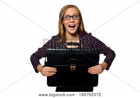 Woman businesswoman concept isolated white background