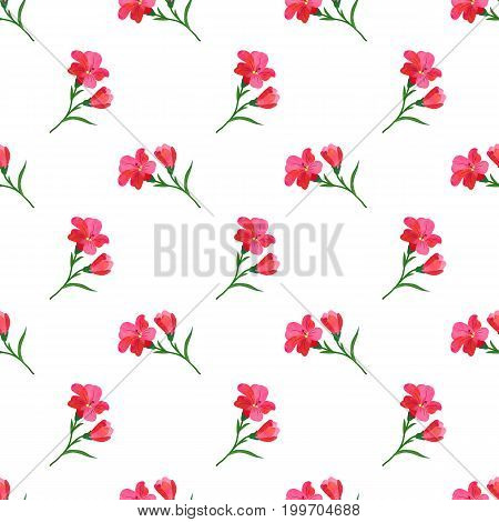 Seamless Background Image Colorful Watercolor Texture Botanic Flower Leaf Plant Red Freesia