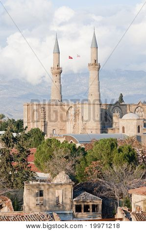 Selimiye Mosque in Nicosia formerly Cath?drale Sainte Sophie.Nicosia Northern Cyprus poster
