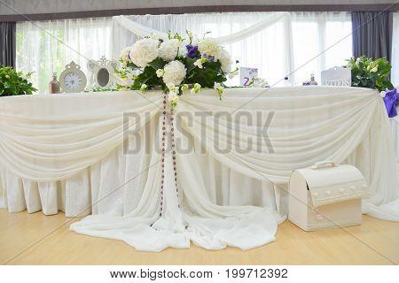 Wedding reception restaurant interior luxury room decoration