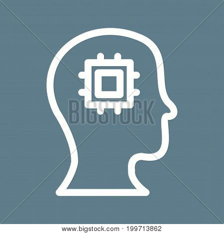 Machine, perception, technology icon vector image. Can also be used for Data Analytics. Suitable for mobile apps, web apps and print media.