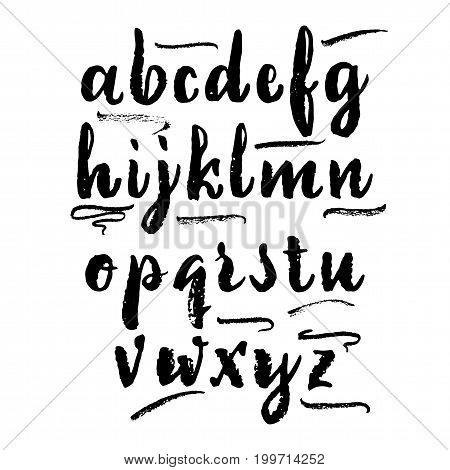 Font drawn on the basis of handwriting calligraphy, modern cursive script brush.