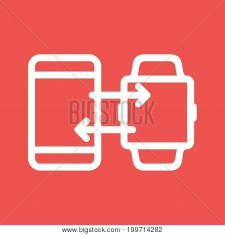 Transfer, sync, smartphone icon vector image. Can also be used for Smart Watch. Suitable for mobile apps, web apps and print media.