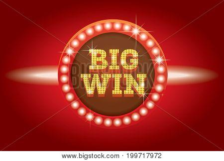 Big Win Neon Banner.