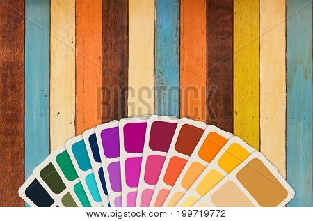 3d rendering color guide or color swatch collection