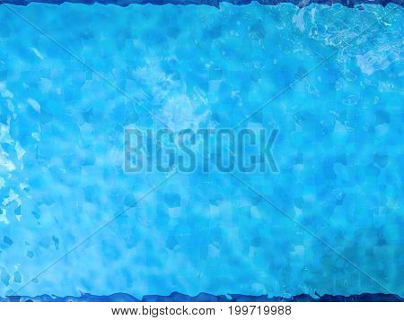 3d rendering pool top view or pool background
