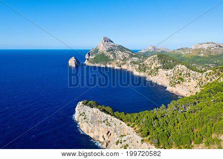 Panorama view of Cap de Formentor - wild coast of Mallorca, Spain, Balearic Islands.