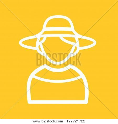 Hat, elegant, fashion icon vector image. Can also be used for Avatars. Suitable for use on web apps, mobile apps and print media.