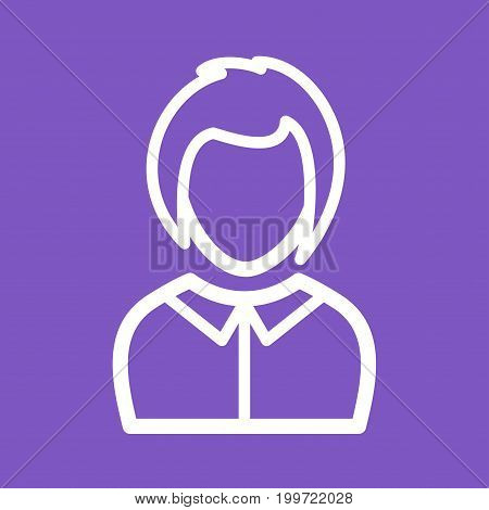 Lady, business, laptop icon vector image. Can also be used for Avatars. Suitable for use on web apps, mobile apps and print media.