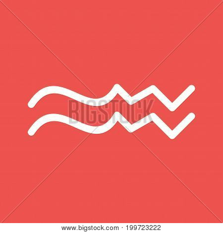 Aquarius, sign, zodiac icon vector image. Can also be used for Zodiac. Suitable for use on web apps, mobile apps and print media.