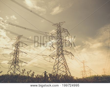 high voltage power plant and transformation station Thailand