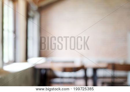 Blurred background : blur restaurant with bokeh light background food and drink concept