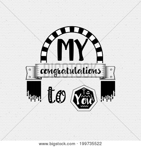 My congratulations to you. Typography, handmade lettering for your design,