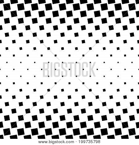 Monochrome abstract square pattern background - black and white geometric halftone vector design from angular squares