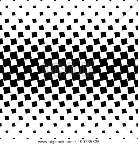 Monochromatic abstract square pattern background - black and white geometric halftone vector graphic from angular squares