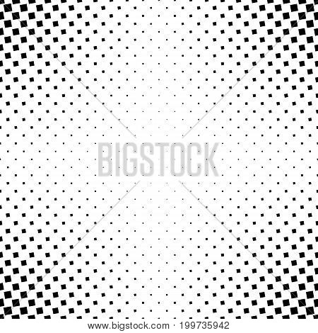 Monochrome abstract square pattern background - black and white geometric halftone vector graphic from angular squares