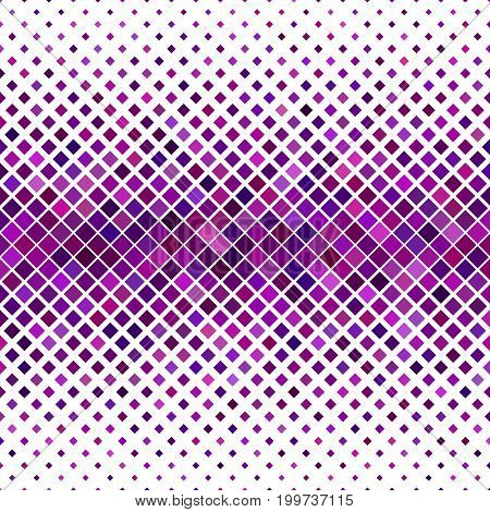 Abstract diagonal square pattern background - geometric vector graphic design from squares in purple tones