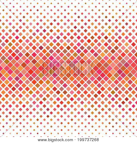 Color square pattern background - geometric vector graphic design from diagonal squares in red tones