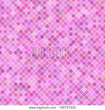 Abstract square pattern background - geometrical vector graphic design from diagonal squares in pink tones
