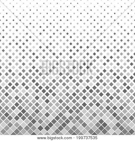 Grey abstract square pattern background - geometric vector illustration from diagonal squares